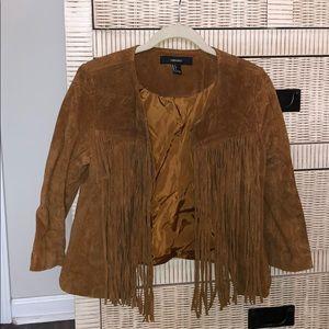 Forever 21 fringe suede jacket
